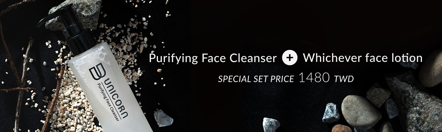 Purifying Face Cleanser + Whichever face lotion